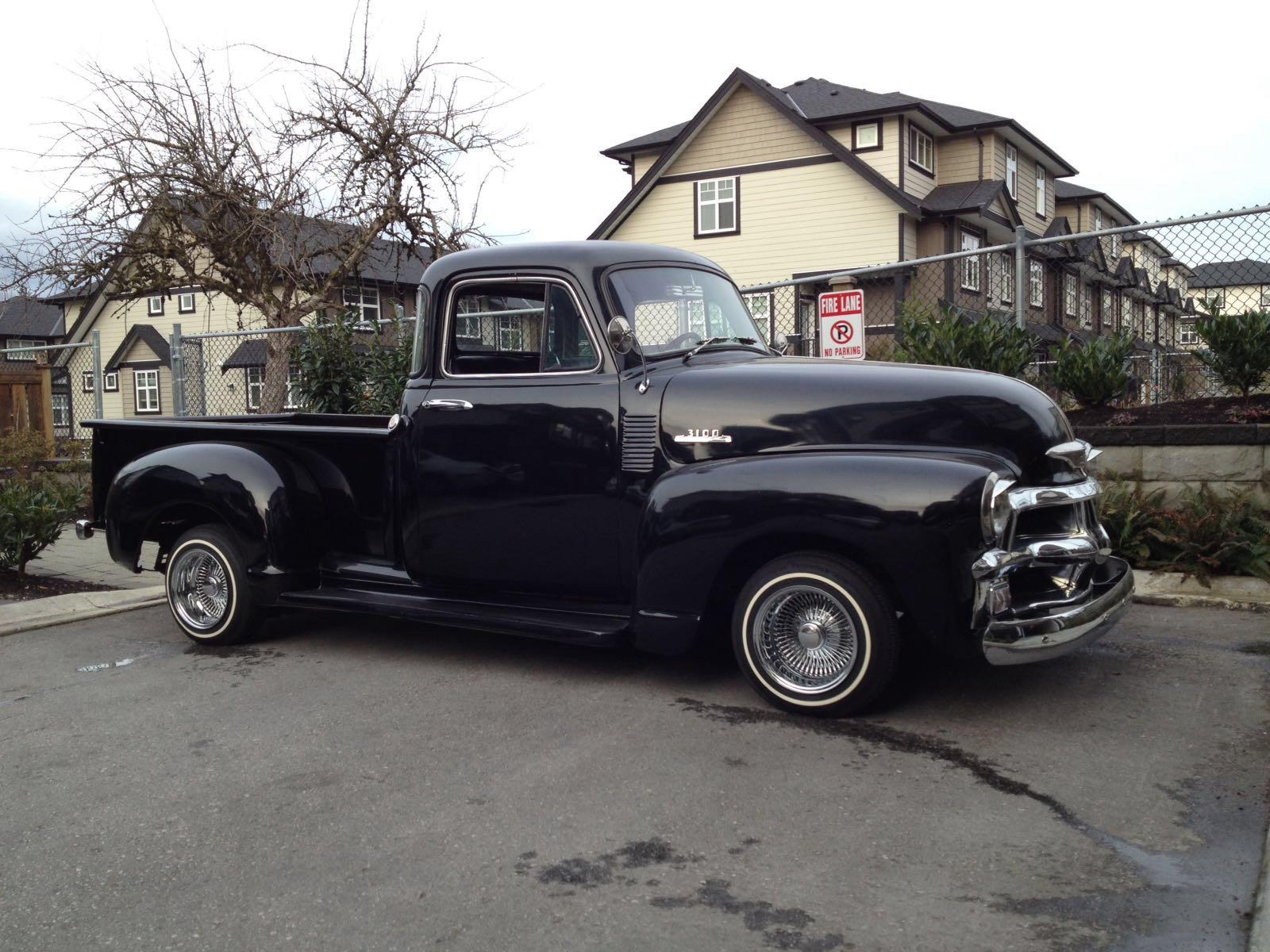 Vancouver Custom Car Rentals 1954 Chevrolet Pickup Pick Up